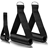 MHYS Resistance Bands Door Anchor,Resistance Bands handles,Cable Machine Attachments Resistance Bands Handles Grips Fitness Strap Stirrup Handle Cable Attachment Silicon Grip with Solid ABS Cores