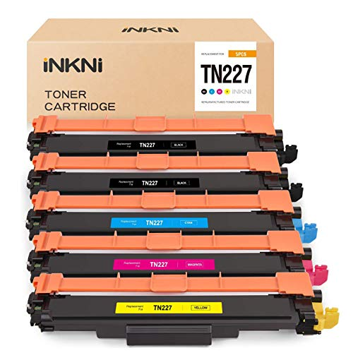 Price comparison product image INKNI Compatible Toner Cartridge Replacement for Brother TN227 TN-227 TN223 for HL-L3210CW HL-L3230CDW HL-L3270CDW HL-L3290CDW MFC-L3710CW MFC-L3750CDW MFC-L3770CDW HL-L3230CDN (5-Pack)