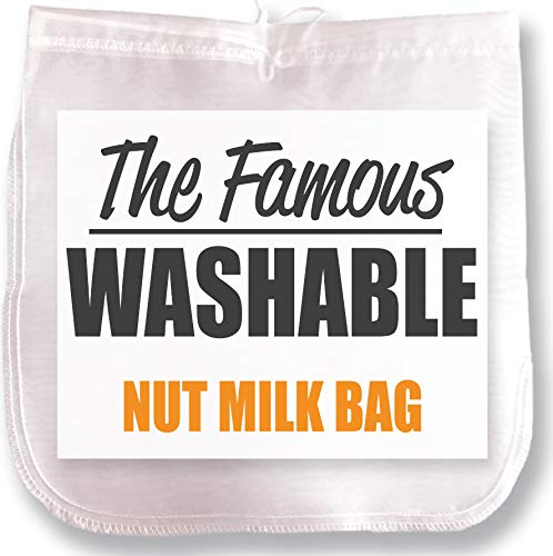 Nut Milk Bag Celery Juice Reusable Strainer Nylon XL 200 Micron Food Fine Mesh Almond Vegetable Fruit Pulp Filter Yogurt Kefir Cottage Cheese
