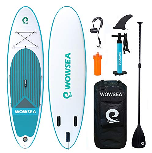 WOWSEA Tabla Inflatable Paddle para Surf, Paddle Board Hinchable con...