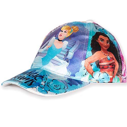 Disney Original Die Eiskönigin 2 Prinzessinnen Mädchen Baseballmützen, Sommerhut – Satin Stoff – 2-8 Jahre Gr. 6.375, Disney Prinzessin - Blau