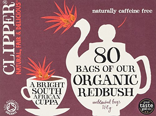 Clipper Organic Redbush 80 Unbleached Tea Bags, 180g