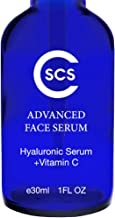 CSCS Vitamin C Serum with Hyaluronic Acid - Best Anti-Aging Serum for Face, Neck and Eyes - Natural & Organic Skin Brightening for Sun Spots, Fine Lines and Wrinkles- 1 fl oz