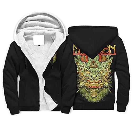 XHJQ88 mannen rits voor comfortabele fleece hoody tiener maan zon schedel gedrukt hiphop - angstig met patch zakken sport blouse