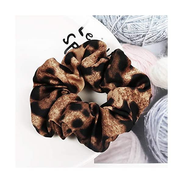 16 Pack Leopard Hair Scrunchies Scrunchies Elastic Rubber Band Hair Rope Bobbles Hair Ties 11