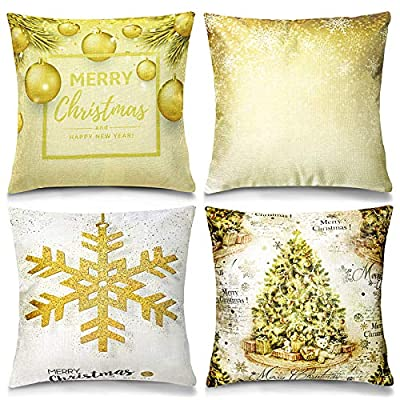 Vsadey Christmas Pillow Covers 18 x 18 Inches S...