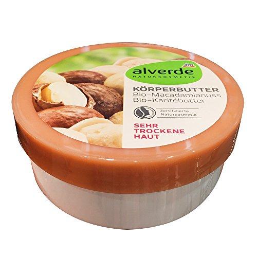 Alverde Körperbutter Macadamianus Karitebutter für sehr trockene Haut (200ml Dose)