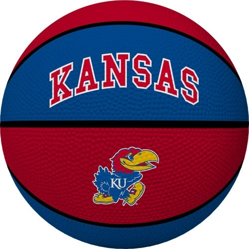 New NCAA Kansas Jayhawks Crossover Full Size Basketball by Rawlings