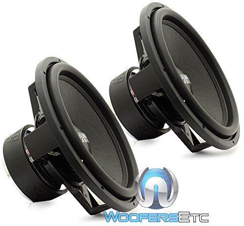 Pair Sundown Audio SA-15 Rev.3 D4 15  1500 Watts Dual 4-Ohm SA Series Subwoofers Pair