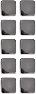 Mibo ABS Metal Plated Shank Button Square Dome Shape Nickel 32 Line 10 Pack
