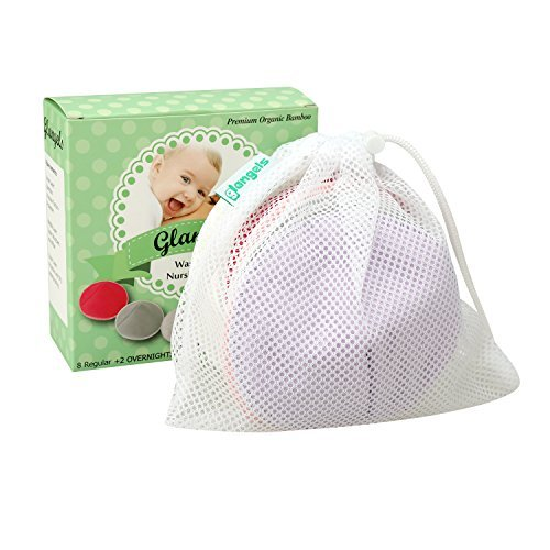 Contoured Washable Large-scale sale Organic Bamboo Reusable Brea for Nursing Don't miss the campaign Pads