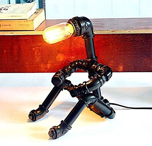 YLCJ creatieve spiraalkeuken tafellamp met twee moderne keuken lampen eenvoudige tafellamp met spiegelspiegel