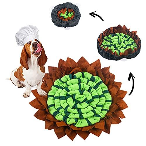 Lurowo - Alfombra de perro, mate, alfombra de cacheo para perro, con fondo antideslizante, alfombra educativa, lavable para mejorar la sensibilidad del olor de los animales domésticos, 50 x 50