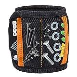 Magnetische Armbänder, DIAOCARE Magnetarmband mit 2 kleinen Taschen,15 Kraftvollen Magneten...