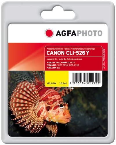 Agfa Photo APCCLI526YD nachgefüllt Tintenpatronen 1er Pack, gelb