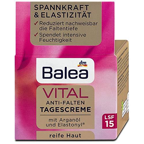 Balea Vital Anti-Falten Tagescreme LSF 15, 3er Pack (3 x 50 g)