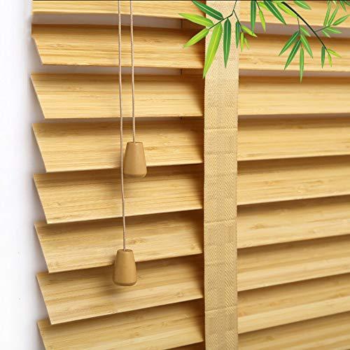 bamboo blinds Bambusrollo, natürliche Holzjalousien, wasserdichte Fensterrollos, wetterfeste Jalousie, ölbeständig, Größe anpassbar
