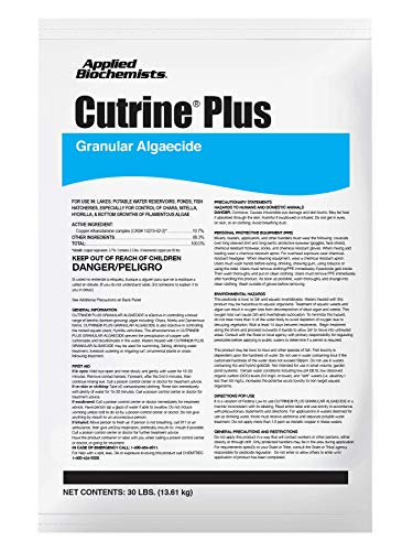 APPLIED BIOCHEMISTS Cutrine Plus Granulated Algaecide, 30 lbs