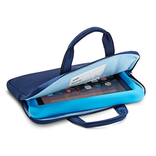 NuPro Funda con cremallera para tablet Fire 7 Kids Edition y tablet Fire HD 8 Kids Edition, Azul maritno/azul