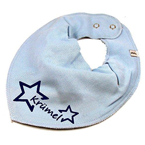 Elefantasie Elefantasie HALSTUCH Stern mit Namen oder Text personalisiert hellblau für Baby oder Kind