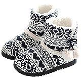 AONEGOLD Donna Pantofole Inverno Caldo Pantofola a Stivaletto Morbido Antiscivolo Peluche Casa