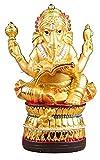 WQQLQX Statue Harz Skulptur Ganesha Statue Hand Geschnitzte Statuette Elefant Lord Traditionelle indische Tempel Skulptur Kunst Geschenk Touristische Souvenir Skulpturen (Color : A)