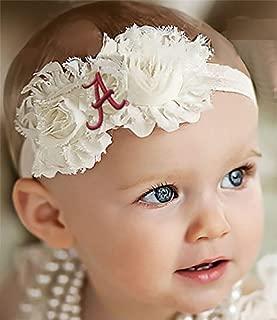 Future Tailgater Alabama Crimson Tide Baby/Toddler Shabby Flower Hair Bow Headband