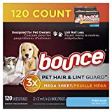 bounce Pet Hair and Lint Guard Mega Dryer Sheets with...