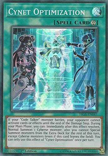Yu-Gi-Oh! - Cynet Optimization - FIGA-EN041 - Super Rare - 1st Edition - Fists of The Gadgets