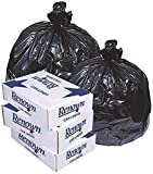 Renown REN26016-CA Trash Can Liners, 38' x 58', 60 gal, 1.2 mil, Black (Roll of 20) (Pack of 5)