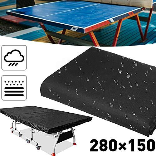 Daxerg Tennis Pingpong tafelkleed, 280 x 150 cm, waterdicht, stofdicht, bescherming voor binnen en buiten