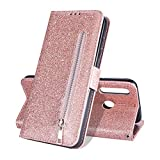 ZCDAYE Wallet Case for Galaxy A40,Bling Glitter Sparkly