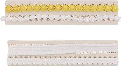 3D Knit Rope Pearl Silicone Fondant Mould Cake Border Sugar Baking Mold DIY