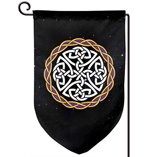 QWS-LKL Irish Shield Warrior Celtic Cross Knot Outdoor Garden Flags Decor 12.5x18 Inch Pattern Double-Sided Printing