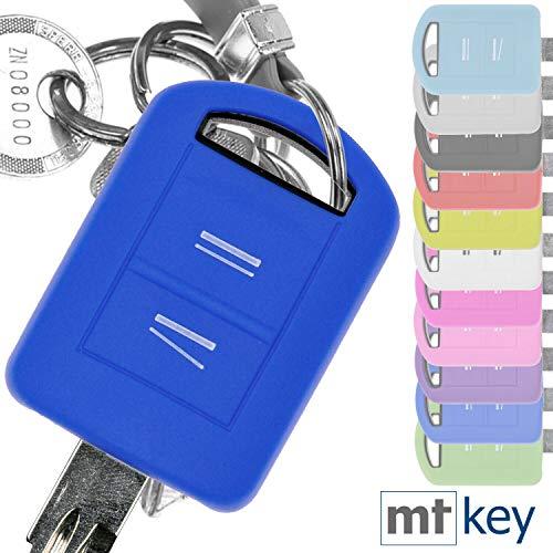 Soft Case Silikon Schutz Hülle Auto Schlüssel Blau kompatibel mit Opel Combo C Corsa C Meriva A Tigra TwinTop