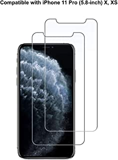 Dolson Screen Protector for iPhone 11 Pro, iPhone Xs and iPhone X 5.8-Inch, Tempered Glass Film, 2-Pack