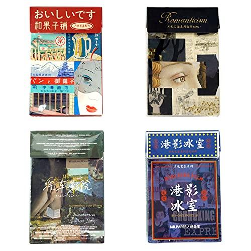 Kruce - Set di 160 adesivi Washi (4 scatole) per diario, retro filmati, adesivi in materiale per scrapbooking, diario di album, diari, biglietti, computer portatile, fai da te, arte e artigianato
