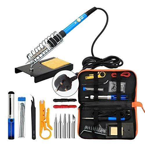 Herramientas electrónicas, Kit de soldador eléctrico de soldadura de temperatura ajustable, caja de soldador para reparación eléctrica DIY azul Style1