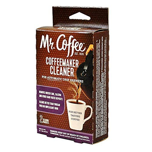 Twinkle Coffeemaker Cleaner & Descaler - Compatible with Mr. Coffee & All Automatic Drip Units (Pack of 2)