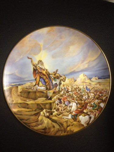 """""""The Battle of Amalek"""" By Artist Yiannis Koutsis Collector Plate VIII of the Bible Series """"The Promised Land"""""""