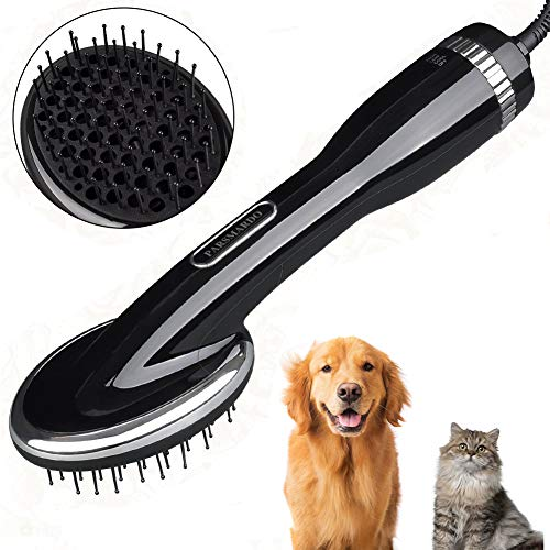 2 in 1 Pet Hair Dryer Blower with Brush 1000W Adjustable Temperature Slicker Shedding Brush for hort Haired and Medium Small Coated Breeds