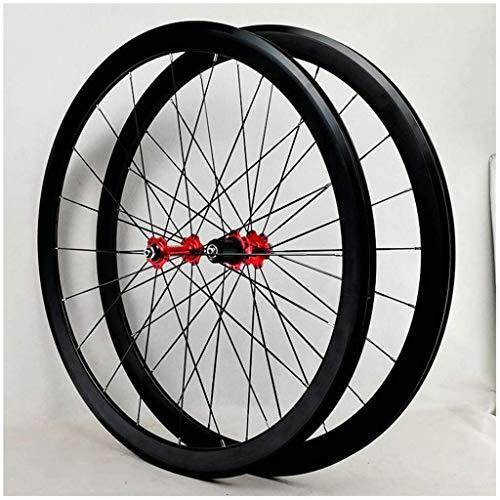 TYXTYX Road Touring Bike Wheel Set 700c Rim Brake Double Wall Alloy Rim 40mm Bicicleta Rueda QR 7-12S Card Hub 1890g