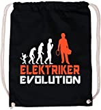 EZYshirt Elektriker Evolution Baumwoll Stoffbeutel