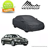 MotRoX 100% Waterproof Car Body Cover for BMW 3 Series (American Dark Grey-with Mirror Pocket and Piping)