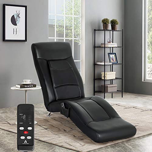 MELLCOM Electric Massage Recliner Chair Chaise Longue Artificial Leather Ergonomic Lounge Massage...
