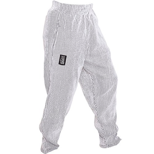C.P.Sports S10 Pantaloni da uomo da allenamento, fitness, bodybuilding, jogging, bianco, M = 6
