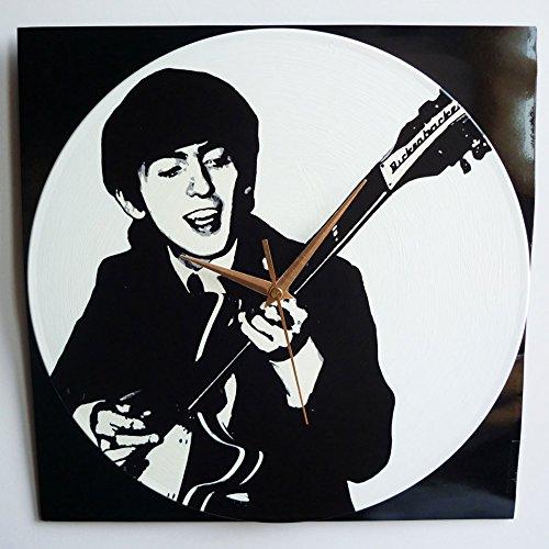 George Harrison - Orologio da parete in vinile da 30,5 cm, realizzato a mano
