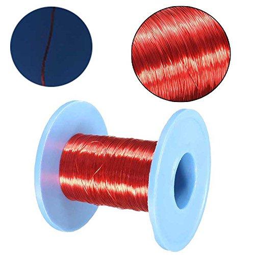 100M 0.2mm filo rosso magnete smaltato filo di rame rotondo bobina magnetica rotolo