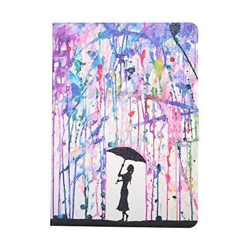 Coopay iPad 5 Hülle, iPad Air 9,7 Zoll Lederhülle,Ultradünne 360 Grad Kunstleder Smart Cases Cover Schutzhülle,Stoßfest Ständer mit Weich Rückseite Etui Bumper,Muster Damen Regenschirm