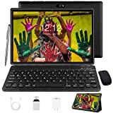 Tablet 10 Zoll Android 10 Tablet PC Mit Tastatur 4G LTE SIM, 3 GB RAM + 32 GB ROM, Quad-Core-Prozessor, GMS-Zertifizierung, 8000 mAh, 1080p Full HD IPS-Display, WLAN / Bluetooth / GPS Windows Tablet